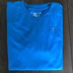 3/$20 Tommy Hilfiger V Neck Tee T-Shirt Lg 16/18